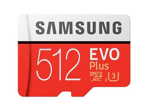 Samsung EVO Plus 512GB Micro SDXC with SD Adapter