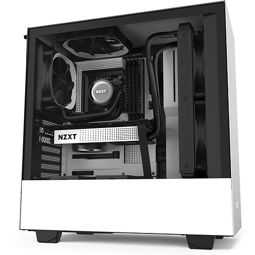 NZXT Matte White H510 Mid Tower Chassis