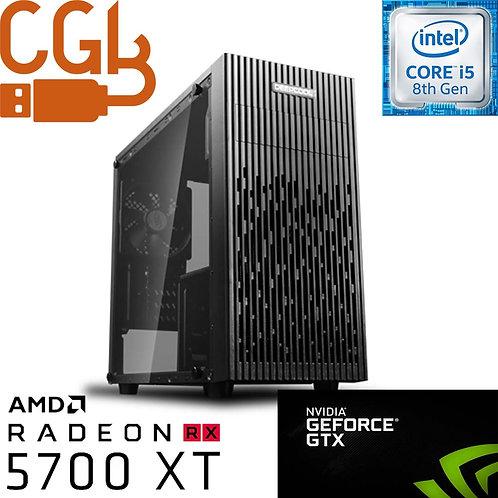 RX 5700 XT OC 6-Core Gaming Desktop, 1TB SSD, Gold 80+ 650W, 16GB RGB DDR4