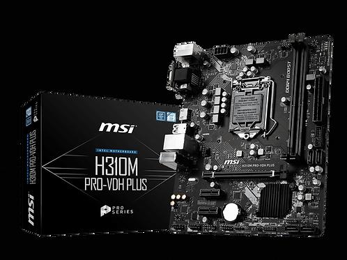 MSI H310M PRO-VDH PLUS uATX/2*DDR4/DSUB/DVI/HDMI/USB3.0.
