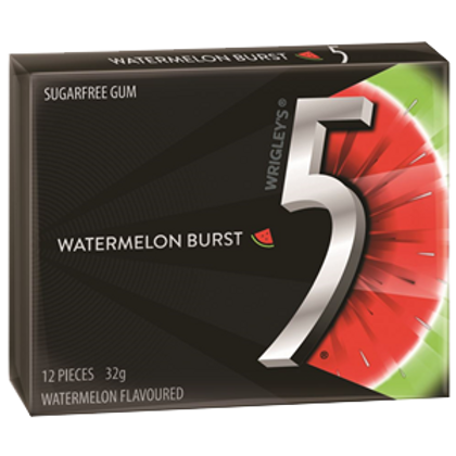 5 Gum Watermelon (32g 12pc)