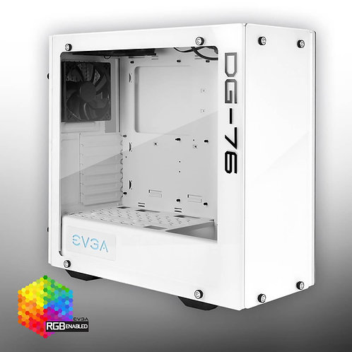 EVGA DG-76 Alpine White Mid-Tower, 2 Sides of Tempered Glass, RGB LED