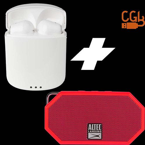 Buy Altec Lansing True Air Wireless Earphones White & Get Free H20 Speaker