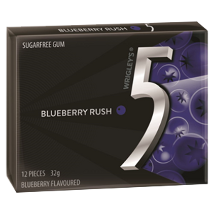 5 Gum Blueberry Rush (32g 12pc)