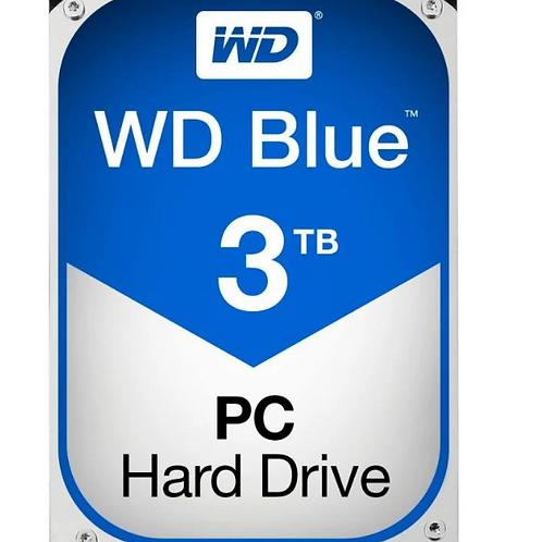 WD Blue 3TB Desktop Hard Disk Drive - 5400 RPM SATA 6 Gb/s 64MB Cache 3.5'