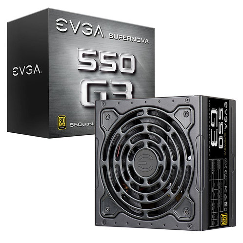 EVGA PSU (Full-Modular), 550W, Hydrodynamic Fan, 80+ Gold 92%, SuperNOVA G3