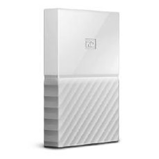 WD My Passport 4TB USB3.0 Portable Hard Drive- White - 3 years Warranty