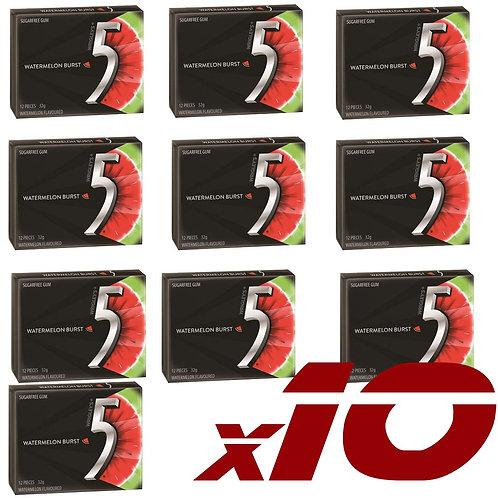 5 Gum Watermelon Burst (10x32g)