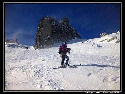 Vallée Blanche en ski Guide de Haute Montagne