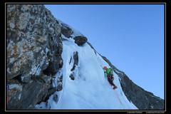 Couloir N-NW du col du grand Van au rocher du Culasson dans le massif du taillefer