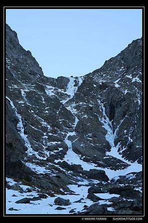 Couloir N-NW du Col du grand Van: vue générale