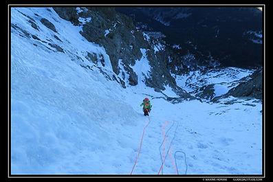 Couloir N-NW du col du Grand Van au rocher du Culasson, massif du Taillefer