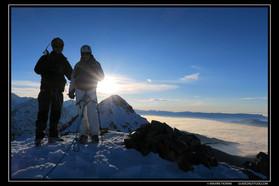 Alpinisme hivernal et fondue Savoyarde en Belledonne