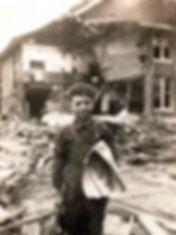 boy in rubble