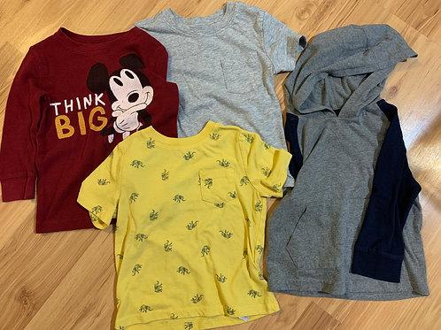 various 2 long, 2 short sleeve shirts