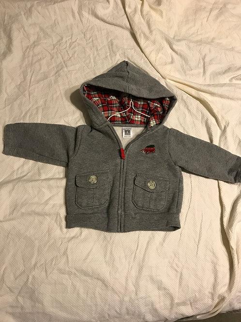 Carters grey hooded zip Sweatshirt