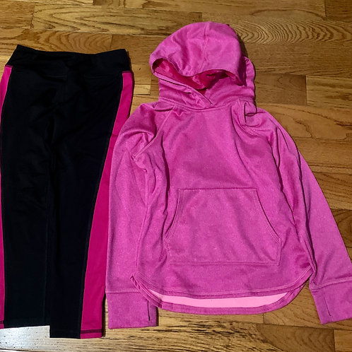 Athletic works 2pc Blk pink pants pink shirt