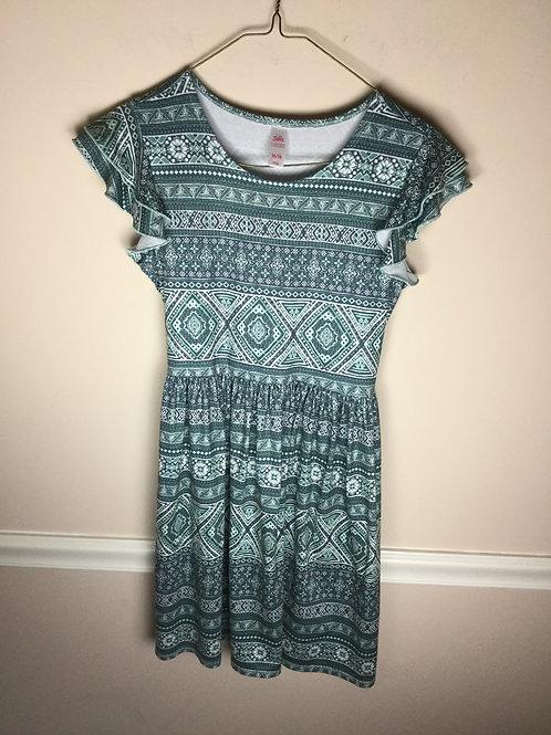 Justice green Print dress