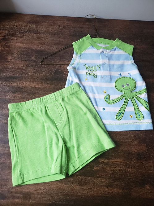 Wishes and Kisses Octo tank/shorts set