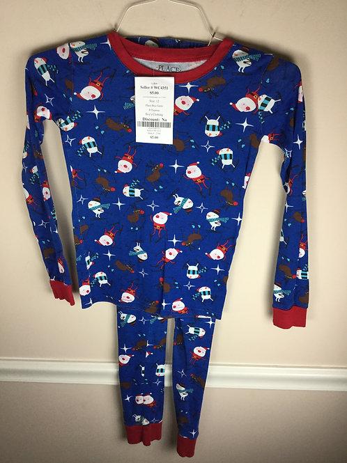 Place Blue Santa B Pajamas