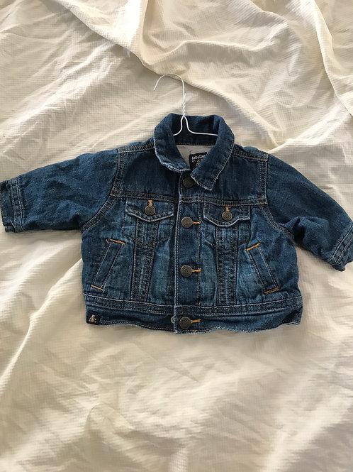 GAP jean jacket lined Blue button