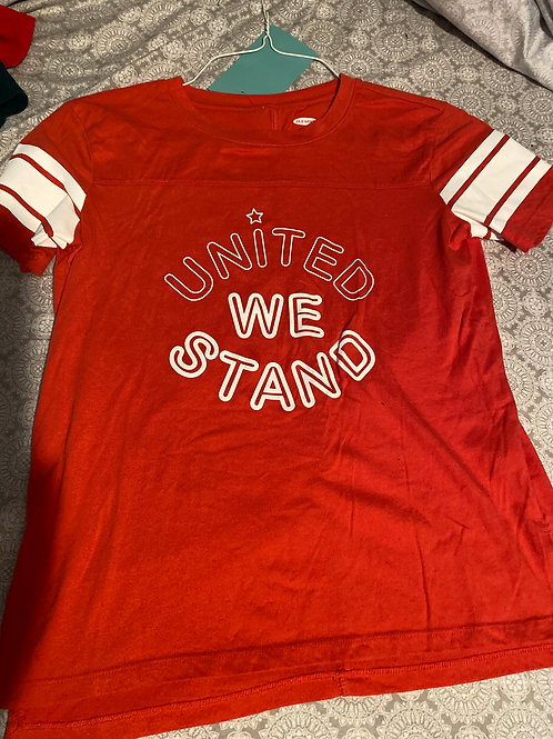 old navy ss shirt red