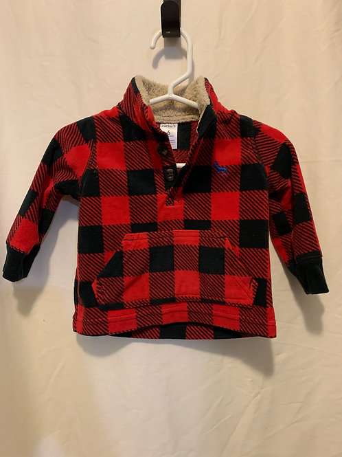 Carters red flannel, 6mo