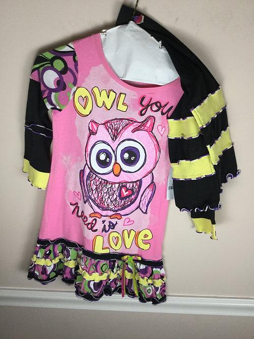 OI Custom Made B owl dress leggings