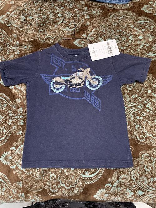 Baby Gap ss Blue gray motorcycle
