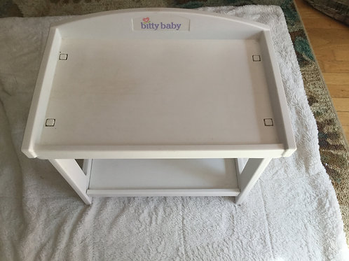 American Girl Bitty Baby White Changing Table