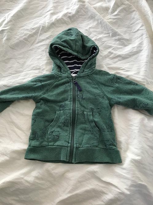 Hannah Anderson SwShirt Green zip dinosaurs- 80