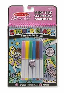 Melissa and Doug On the Go Fairy Tale Stained Glass Coloring Pad