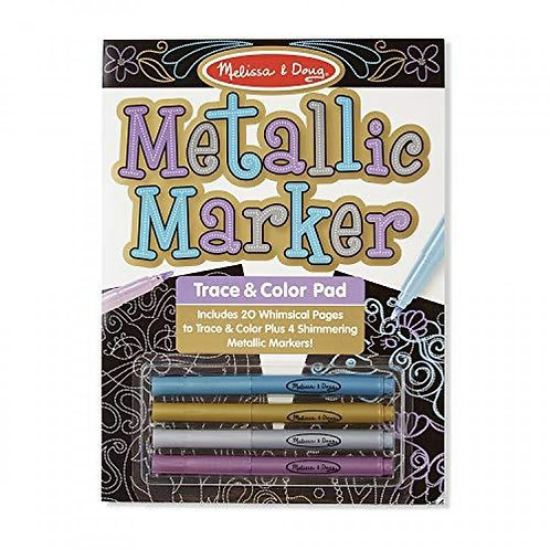 Melissa & Doug Metallic Marker Trace & Color Pad