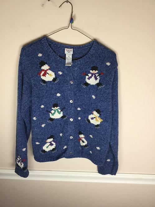 Talbots kids blue holiday Sweater