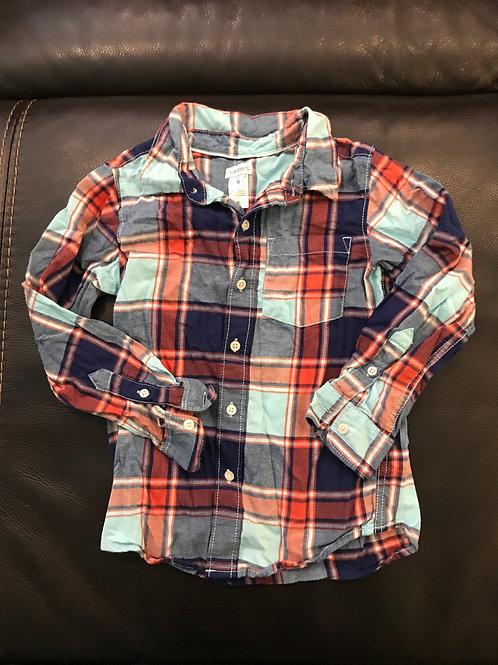 Carters plaid multi Button down cotton shirt