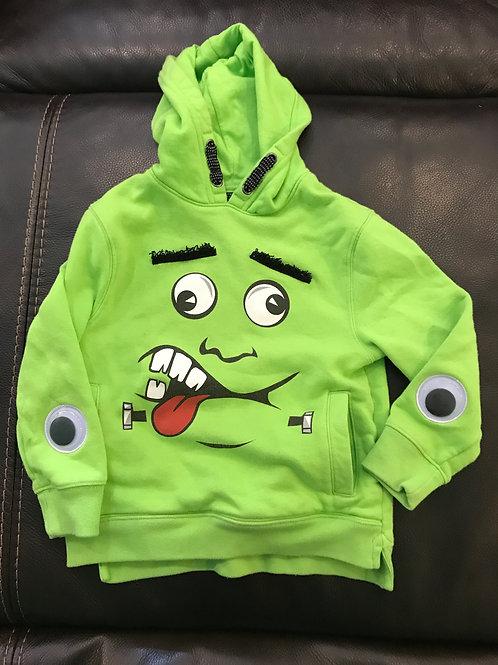 Cat & Jack lime green Hoodie monster pullovr