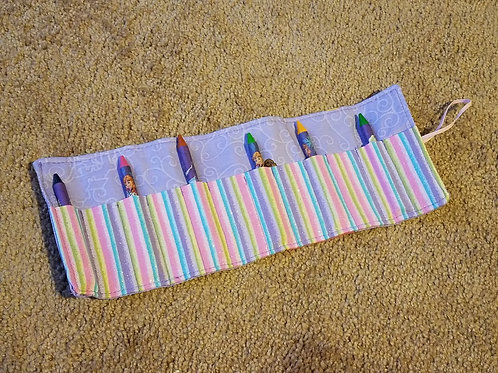 princess crayon roll up