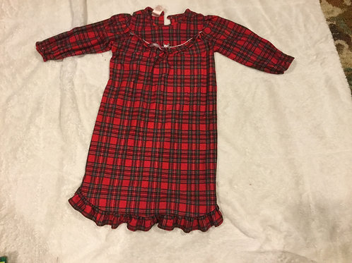 Faded Glory Red Plaid Nightgown