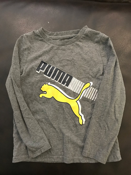 Puma long sleeve tee Grey yellow puma