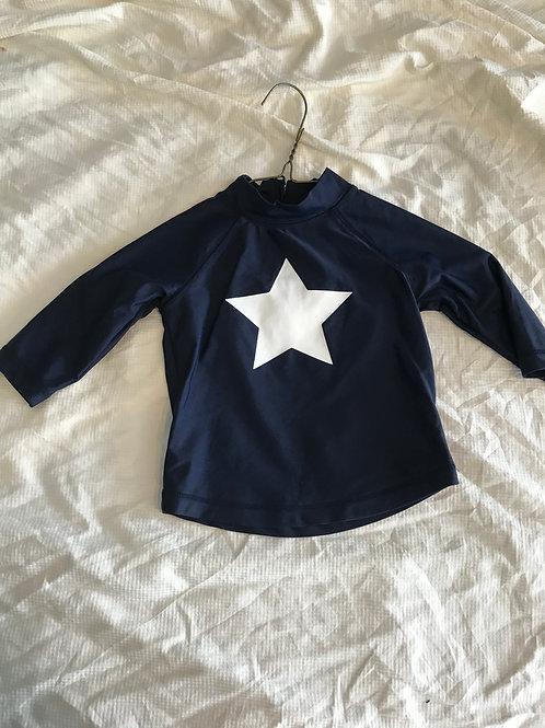 GAP LS rash guard Navy blue w/ star