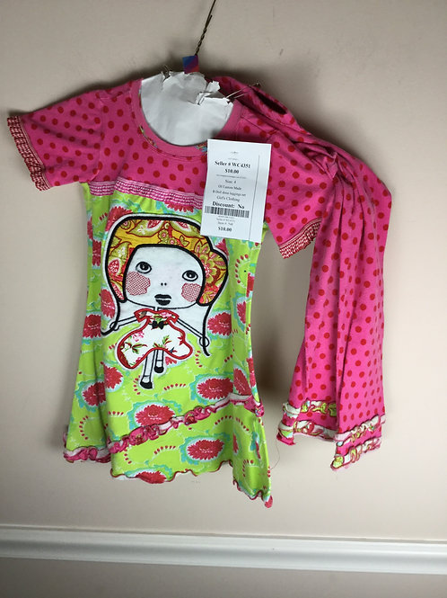 OI Custom Made B Doll dress leggings set