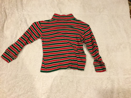 Hartstrings Turtleneck Red and Green Stripes