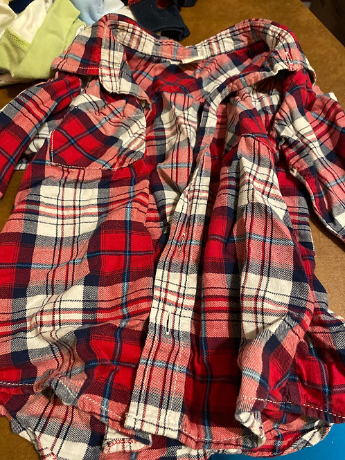 Old navy ls shirt Red  white  plaid