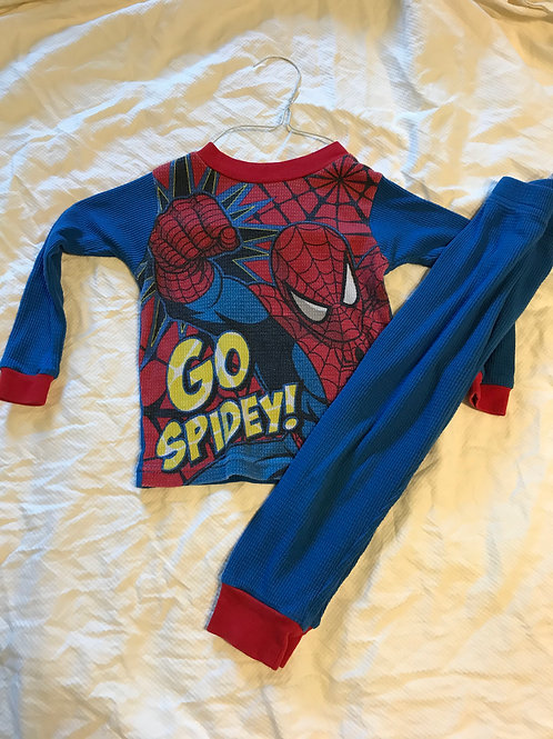 Spider-Man 4T pjs 2 pc Blue and red go spider