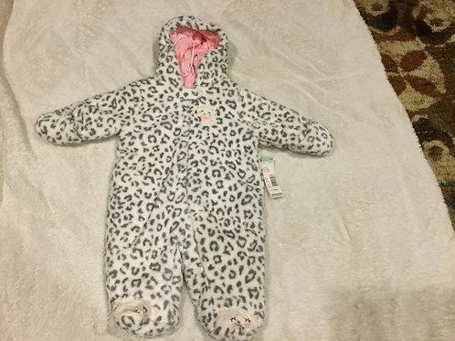 New Little Wonders Snow Suit Cat Cheetah Print