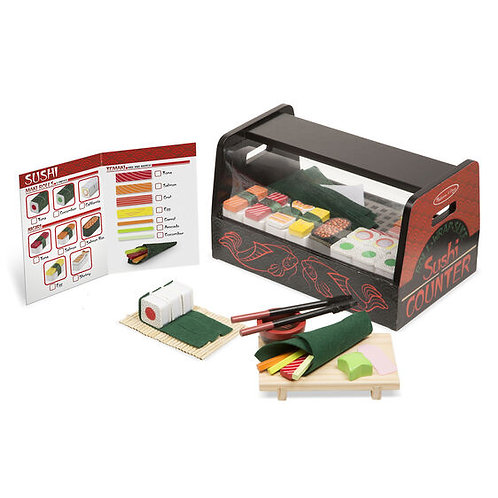 Melissa and Doug Roll-Wrap-Slice Wooden Sushi Counter