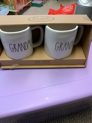 Rae Dunn Grandma grandpa mugs See Description