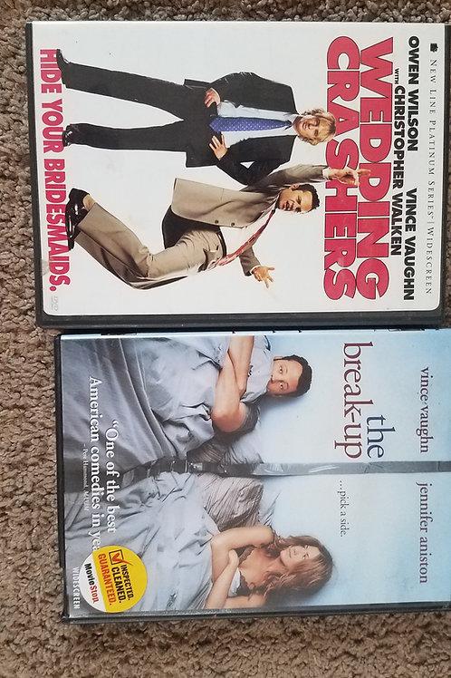 2pc set DVD wedding Crashers breakup