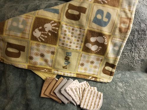 n/a Blanket & Washcloths