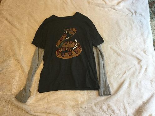 Gap Gray LS Shirt Rattlesnake